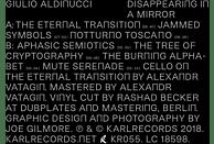 Giulio Aldinucci - DISAPPEARING IN A MIRROR [CD]