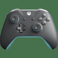 MICROSOFT Xbox Wireless Controller Controller, Dunkelgrau/Hellgrau/Blau
