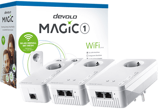 DEVOLO 8367 Magic 1 WiFi 2-1-3 Multiroom Kit Powerline Powerline Adapter 1200 kbit/s Kabellos und Kabelgebunden