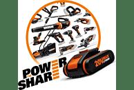 WORX WG629E.91 Hydroshot 20 V (ohne Akku) mit Zubehör-Set Hochdruckreiniger, Schwarz/Orange