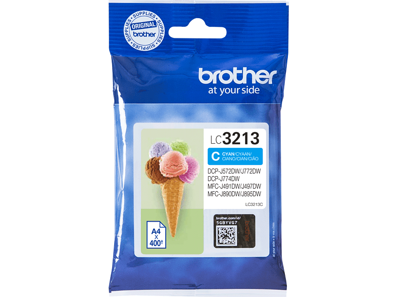 BROTHER LC-3213C Cyaan
