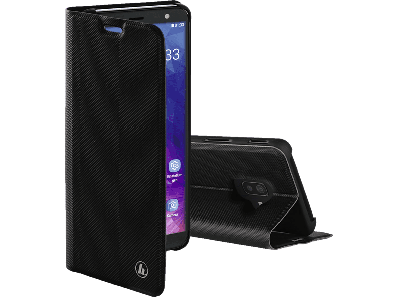 HAMA Slim Pro , Bookcover, Samsung, Galaxy J6+, Polyurethan (PU), Schwarz