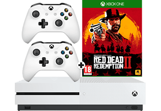 MICROSOFT XBOX ONE S 1TB BUNDEL RED DEAD REDEMPTION 2 EN 2 CONTROLLERS