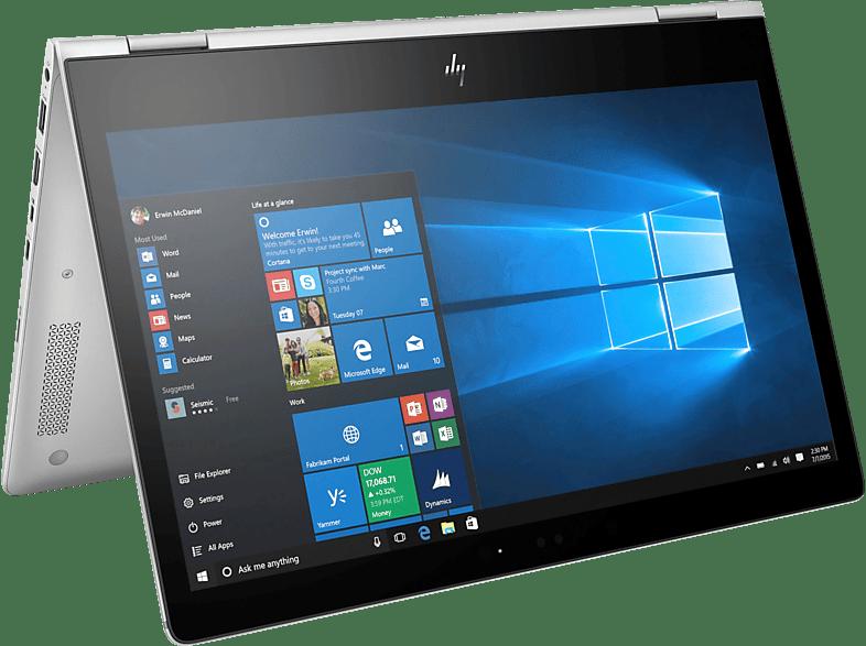HP EliteBook x360 1030 G2, Convertible mit 13.3 Zoll Display, Core™ i7 Prozessor, 16 GB RAM, 1 TB SSD, Intel® HD-Grafik 620, Silber
