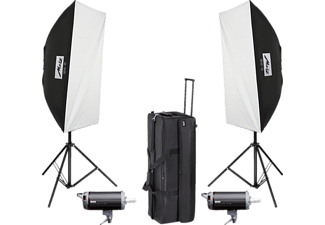 METZ TL-300 SB-KIT II, Studioblitz-Set, Schwarz/Weiß