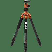 ROLLEI C50i Carbon Dreibeinstativ Stativ, Orange, Höhe offen bis 1575 mm