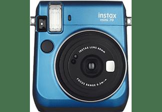 Cámara instantánea - Fujifilm Instax Mini 70 Kit + Film, Modo Selfie, Azul
