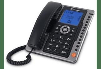 Teléfono - SPC 3604N, Manos libres, Pantalla iluminada, Negro