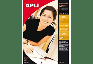 Papel - Apli 12626, A4, mate, 100 hojas