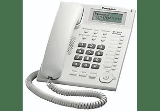 Teléfono - Panasonic KX-TS880, Fijo, Identificador de Llamada, Entrada Jack,  Marcación Directa, Blanco