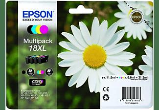 Pack de cartuchos - Epson 18XL, negro, magenta, cian y amarillo