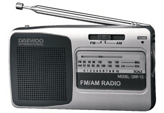 Radio portátil - Daewoo DRP 15, Plateada