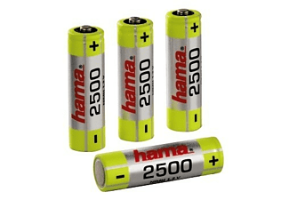 Pilas recargables - Hama Rechargeable NiHH Batteries, Níquel-metal hidruro (NiMH), 2500mAh, 1.2V