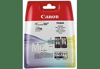 Pack de cartuchos - Canon PG-510/CL-511, negro y tricolor