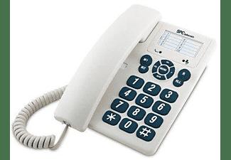 Teléfono - SPC 3602, 3 teclas de memoria, Blanco