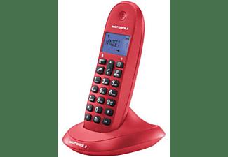 Teléfono - Motorola C1001, manos libres, timbre polifonico, color cereza