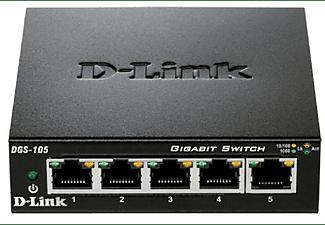 Switch - D-Link DGS-105, 5p 10/100/1000mbps, Rj45, Negro