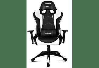 Silla gaming - Drift DR300, Reposabrazos 3D, Pistón clase 4, Asiento basculante, Negro y blanco