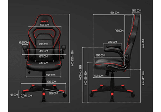 Silla Gaming - Drift DR75, Inclinable 15º, Reposabrazos regulable, Blanco y negro