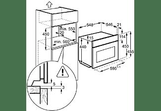 Horno - AEG KPE742220M, Multifunción, Eléctrico, 43L, Pirolítico, Sonda térmica, 3000W, A+