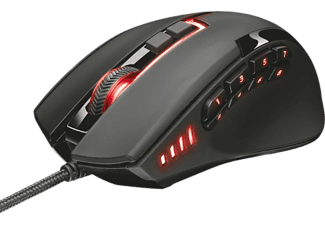 Ratón gaming - Trust GTX 164 Sikanda, 5000 DPI, LED, Negro