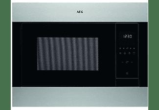 Microondas integrable - AEG MSB2547D-M, 900W, Grill, 23L, Acero inoxidable, 8 niveles, Negro/Inox