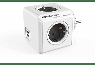 Regleta - PowerCube BXPC1400 Gris, 4 tomas + USB, alargo