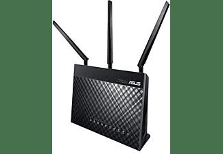 Enrutador inalámbrico - ASUS RT-AC68U, conmutador de 4 puertos, GigE, 802.11ac - 802.11
