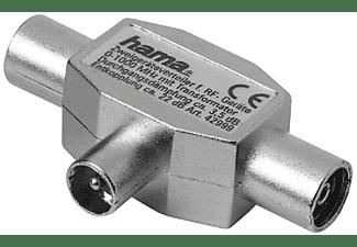Ladrón antena - Hama 7122470, 2x F enchufes, Plata