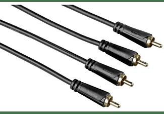 Cable RCA - Hama 7122282, 1.5m, 2 x RCA, Negro