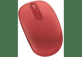 Ratón inalámbrico - Microsoft Wireless Mobile Mouse 1850, Rojo, Nano transceptor Plug-and-go