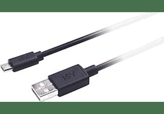 Cable - De USB a MicroUSB, Isy IWC 1000, Universal, Longitud 120 cm, Negro
