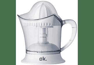 Exprimidor - OK OJU 102 Potencia 40W, Depósito de 0.5L, Tapa transparente