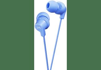 Auriculares botón - JVC HA-FX10-B-E, 9 mm neodimio, Cable 1.2 m, Azul