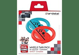 Volante - Ardistel, Para Nintendo Switch, 2 Volantes Joy-Con, Botones SL/SR, Rojo, Azul
