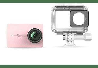 Cámara deportiva - XiaoYi 4K, 12MP, Sensor IMX377, LCD, Wifi, Rosa + Carcasa Waterproof