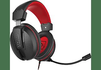 Auriculares gaming - Red Level Pro Estéreo, Para PS4, PS5, Rojo y negro
