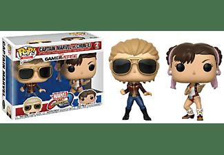 Figuras - Funko POP!, Captain Marvel & Chun-Li, Marvel vs. Capcom Infinite