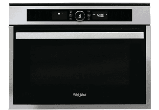 Horno - Whirlpool AMW 509/IX, Microondas, Display, Tecnología 3D, Grill, 40L, Negro/Inox
