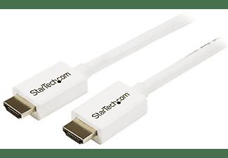 Cable - StarTech.com HD3MM1MW Cable HDMI de alta velocidad 1m Macho a Macho CL3 Blanco