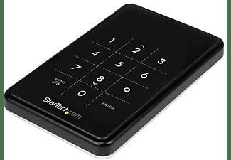 Caja para Disco - StarTech.com S2510BU33PW Caja USB 3.0 encriptada para disco 2,5 pulgadas SATA III