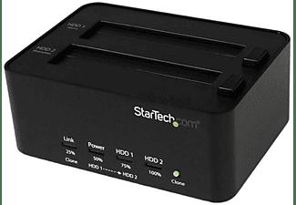 Base para Disco - StarTech.com SATDOCK2REU3 Estacion Conexion Duplicador USB 3.0 Discos Duros HDD SA