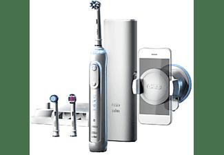 Cepillo Eléctrico - Oral B GENIUS PRO 8000, Cepillado 3D, Bluetooth, Blanco