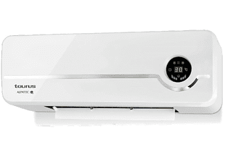 REACONDICIONADO Calefactor de pared - Taurus RCMB 23, 2 potencias, Pantalla LED, Termostato, Blanco