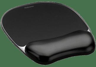 Alfombrilla con reposamuñecas - Fellowes Gel Crystals, en color negro