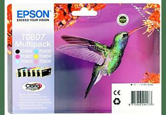 Pack de cartuchos - Epson T0807, negro, magenta, cian, amarillo, cian claro y magenta claro