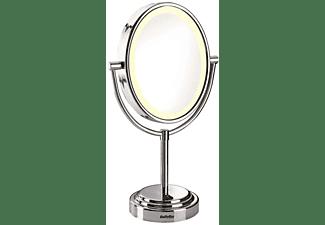Espejo oval lumínico - Babyliss 8437E Base antideslizante, Ampliación 7x, Marco con movimiento