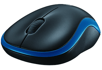 Ratón inalámbrico - Logitech M185, nano receptor, 2,4GHz, color azul y negro