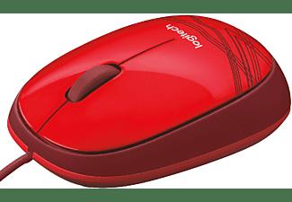 Ratón con cable - Logitech M105 Red, ultraportátil