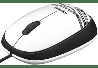 Ratón con cable - Logitech M105 White, ultraportátil